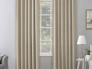 PAIR OF Sun Zero Amherst Velvet Noise Reducing Thermal Extreme Total Blackout Back Tab Curtain Panel