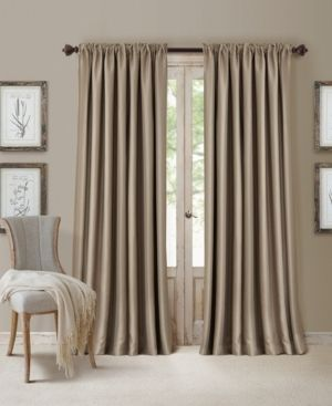 PAIR OF All Seasons Blackout Window Curtain  52 x84    Taupe