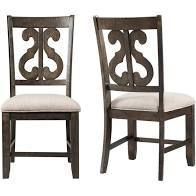 The Gray Barn Fron Holding Wooden Swirl Back Side Chair  Set of 2  Retail 218 49