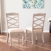 PAIR OF The Gray Barn Brandison Traditional Gray Wood Dining Chairs Retail 1439 99