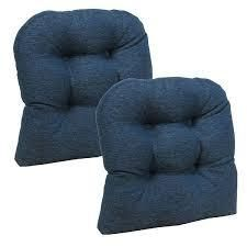 Gripper Non Slip 17  x 17  Omega Tufted Chair Cushions  Set of 2