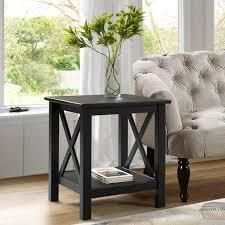 Porch   Den Ripplewood Black X Base End Table  Retail 99 99