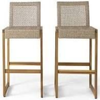 Elon Outdoor Wicker Barstools  Set of 2  by Christopher Knight Home  Retail 184 99