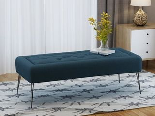 Zyler Rectangle Tufted Fabric Ottoman Bench by Christopher Knight Home  Retail 175 99