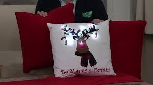 Spencer Home Set of 3 Holiday lED Decorative Pillows Reindeer