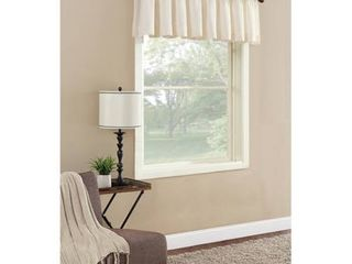 PAIR OF Mainstays Textured Solid Curtain Valance