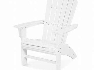 Trex Outdoor Furniture Yacht Club Single Curveback Adirondack Chair Classic White