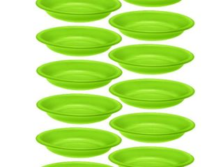 Set of 12 Plastic Plate 15Ounce Microwavable Dishwasher Safe BPA Free