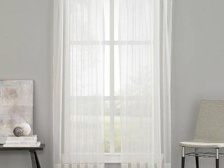 PAIR OF Curtainworks Soho Voile Curtain Panels