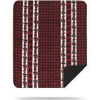 Denali Home Collection by Mont Double Sided Reversible Throw  50 by 60 Inch  Bear Plaid Border Black