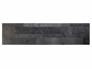 Aspect 6 x 24 inch Charcoal Slate Peel and Stick Stone Backsplash  13 Pieces