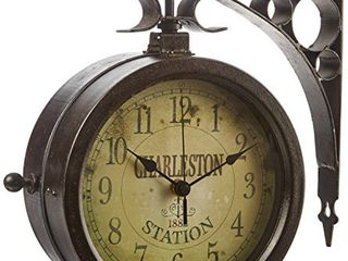 Infinity Indoor Outdoor 8  The Charleston Double Sided Clock   Thermometer   12430CT RUV2