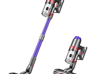 ONSON Cordless Vacuum Cleaner  3 Gear Suction Adjustment Stick Vacuum  55 Minutes long Runtime Vacuum Cleaner with Upgraded V shaped Roller Brush  Detachable Battery for Deep Cleaning  lightweight
