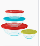 Pyrex 4 set Glass Mixing Bowl Set