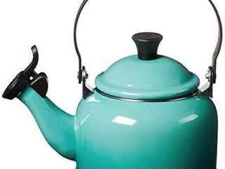 le Creuset Enamel On Steel Demi Tea Kettle  1 25 qt  Caribbean