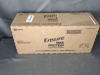 ENSURE MAX PROTEIN NUTRITION SHAKE 12   11 Fl OZ CARTONS