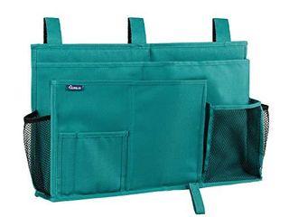 Surblue Bedside Caddy Hanging Bed Organizer Storage Bag Pocket for Bunk and Hospital Beds  College Dorm Rooms Baby Bed Rails Camp 8 Pockets Teal