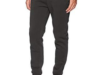 WT02 Men s Basic Jogger Fleece Pants  Heather Charcoal  large
