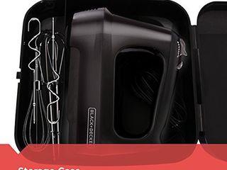 BlACK DECKER 6 Speed Hand Mixer with 5 Attachments   Storage Case  MX3200B