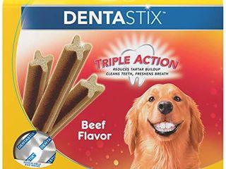 PEDIGREE DENTASTIX large Dog Dental Treats Beef Flavor Dental Bones  1 72 lb  Pack  32 Treats