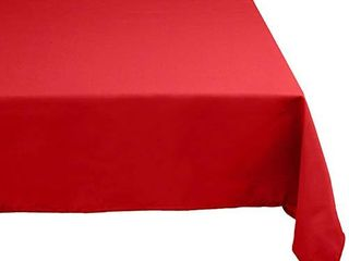 DII 52x70  Rectangular Polyester Tablecloth  Red   Perfect for Fall  Thanksgiving  Dinner Parties  Christmas  Buffets or Everyday Use
