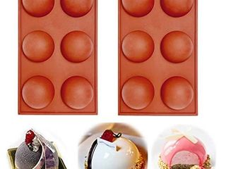 6 Holes Silicone Mold For Chocolate  Cake  Jelly  Pudding  Handmade Soap  BPA Free Cupcake Baking Pan  2pcs   2pcs