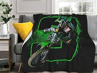 Korlav Eli Tomac 3 Motocross and Supercross Throw Blanket  Flannel Blanket Bedding