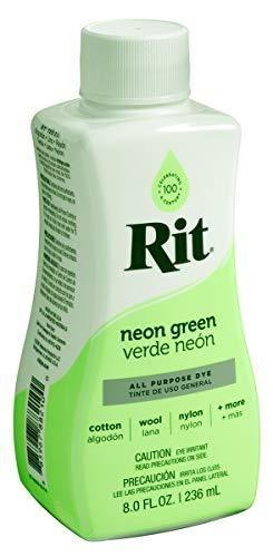Rit All Purpose liquid Dye  8 oz  Neon Green  8 Fl oz