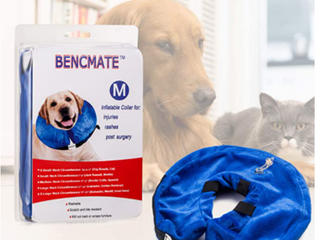 BENCMATE  INFlATABlE PET COllAR FOR INJURIES  RASHES  POST SURGERY