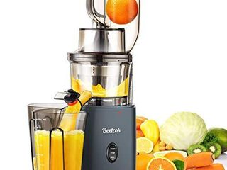 Juicer  Slow Masticating Juicer  Cold Press Juicer Machine Easy to Clean  Higher Juicer Yield and Drier Pulp  Juice Extractor with Quiet Motor and Reverse Function  Easy Clean  large