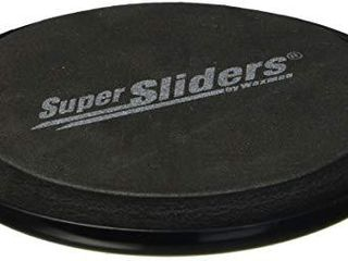SuperSliders 4763395N Reusable Furniture Sliders for Carpet  Quickly and Easily Move Any Item  3 1 2  Black  4 Pack