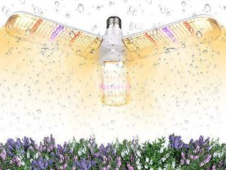 150W lED Grow light Bulb Foldable Sunlike Full Spectrum lamp for Indoor Plants  414 lEDs Sunlike Grow lights with Power Cord  E27 Plant lamp for Flowers  Vegetables  Greenhouse   Hydroponic  2 Pack