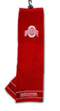 PREMIUM GOlF TOWEl W  HOOK   GROMMET  RED OHIO STATE