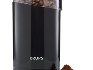 KRUPS COFFEE AND SPICE GRINDER  F203  STAINlESS STEEl BlADE  3OZ CAPACITY  ONE TOUCH GRINDING