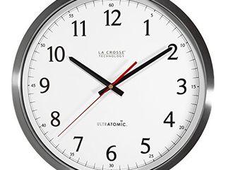 la Crosse Technology 404 1235UA SS 14 Inch UltrAtomic Analog Stainless Steel Wall Clock