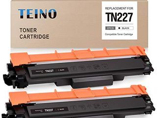 TEINO Compatible Toner Cartridge Replacement for Brother TN227 TN227BK TN223 for Brother MFC l3770CDW MFC l3750CDW MFC l3710CW Hl l3290CDW Hl l3210CW  Black  2 Pack