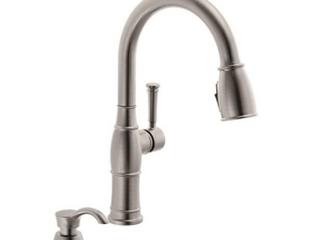 Delta Valdosta Spotshield Stainless Kitchen Faucet Pull Down 19957Z SPSD DST NEW