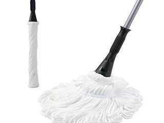Eyliden Microfiber Twist Mop 57 5 inch long Handle Dust Mops for Floor Cleaning  Self Wringing Washing Mop   Hand Release  with 2 Replacements Mop Heads   Household Cleaners Tools