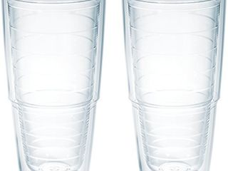 Tervis Clear   Colorful Insulated Tumbler  24 oz Tritan  Clear