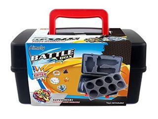Aimoly Battle Tops Case  Storage Carrying Box Storage Box for Battling Spinner Game  White