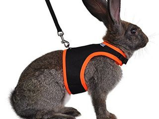 Niteangel Adjustable and Breathable Mesh Harness with lead for Rabbit  S  Blue