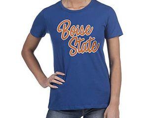 Top of the World Boise State Broncos Women s Trim Modern Fit Premium Cotton Boyfriend Team Color Tee  Medium