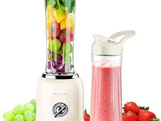 REDMOND Personal Blender Countertop Smoothie Blender 21000RPM with 2 x 20oz Travel Bottle 2 Speed  Pulse Function 6 Stainless Steel Blades BPA Free Cream