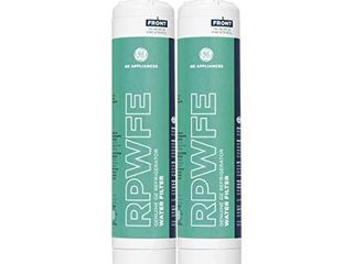 GE RPWFE Refrigerator Water Filter  White Green  Pack of 2