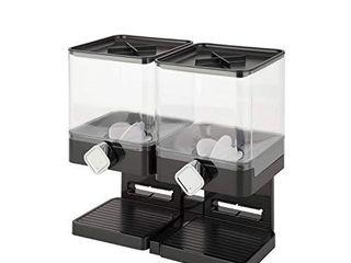 Zevro Compact Dry Food Dispenser  Dual Control  Black Chrome