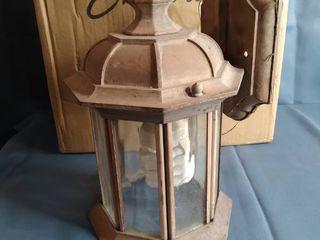 Emliviar Outdoor Wall Mount lights 2 Pack  1 light Exterior Sconces lantern Clear Seeded Glass  OS 1803EW1 2PK
