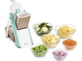 DASH Safe Slice Mandoline for Vegetables  Meal Prep   More with Thickness Adjuster  Aqua