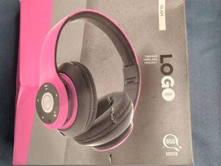 lOGO Pink Premium Wireless Headset