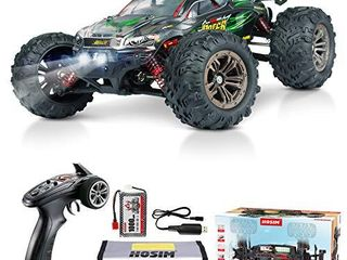 Hosim RC Car 1 16 Scale 2847 Brushless Remote Control RC Monster Truck   All Terrain 4WD High Speed 52KM h Off Road Waterproof Shockproof Anti Skid 2 4G Radio Controlled RTR Hobby Car Green