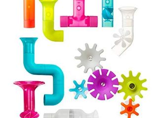 Boon Building Bath Toy Bundle with Pipes  Cogs and Tubes  Pack of 13